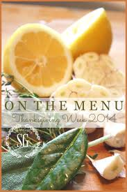 on the menu thanksgiving week 2014 stonegable