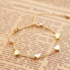 gold chain love bracelet images Summer women fashion gold foot anklet chain jewelry heart love jpg