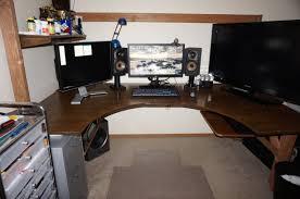 Big Gaming Desk Best Solutions Of Plan For Gaming Station Puter Desk Design Also