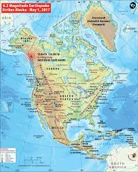Map Of Russia And Alaska by Alaska Earthquake Map Area Affected By Earthquake In Alaska