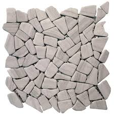 pebble tile natural stone tile the home depot solistone haisa marble dark 12 in x 12 in x6 35 mm natural stone