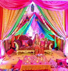 hindu wedding decorations for sale rainbow setting for a mendhi or sangeet indian wedding decor