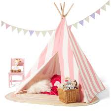 Canopy For Sale Walmart by Children U0027s Teepee Tent Pink White Stripes Walmart Com