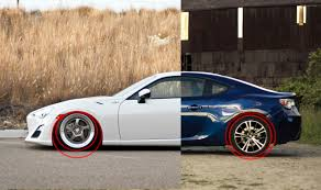 subaru brz vs scion frs vs toyota gt86 wheel gap lowering and symmetry concentricity scion fr s forum