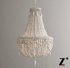 wood bead ceiling light replica item america style anselme large chandelier weathered white