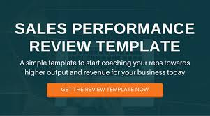 the sales manager u0027s guide to performance reviews free template