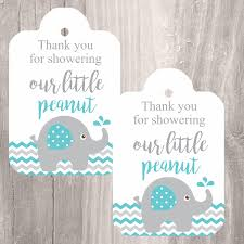 elephant printable tags instant download teal elephant baby