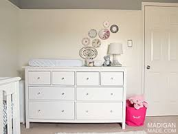 Changing Table Or Dresser Our Ikea Hemnes Dresser Changing Table Rosyscription