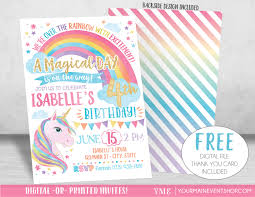free rainbow birthday invitations unicorn birthday invitation unicorn invitation rainbow