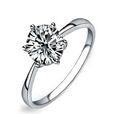 buy rings diamond images Maikun womens platinum plated cupronickel classic 6 jpg