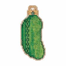 christmas pickle pickle cross stitch ornament kit mill hill 2017 winter