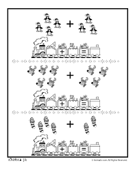 christmas math addition worksheet picture groups animal jr