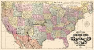 United States Map With Rivers Lakes And Mountains by Old Railroad Map Atchison Topeka And Santa Fe 1881