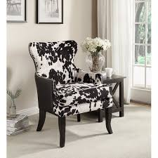 Accent Wingback Chairs Nspire Faux Cowhide Accent Wingback Chair U0026 Reviews Wayfair Ca