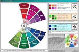 feng shui color chart features of the professional feng shui calculation system