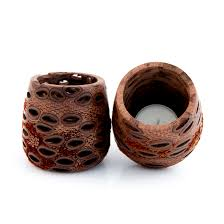 small tea light candles banksia seed tea light candle holder small my pure earth