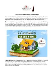 the path to green home construction