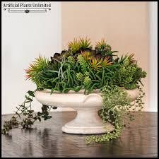 succulent arrangements world tabletop succulent arrangement in urn 17indx14inh