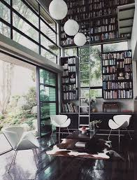 modern home library interior design modern home libraries with casual look
