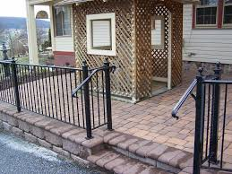 Garden Wall Railings by Exterior Astonishing Brown Cherry Wood Front Porch Rails With