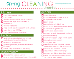 House Cleaning List Template Spring Cleaning Checklist To Do List Template