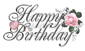 happy birthday fancy black silver pink word 0 75