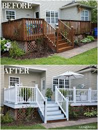 diy deck remodel deck stain u0026 vinyl railings make all the