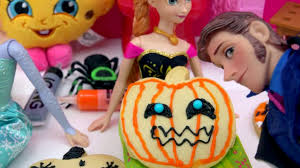 Decorate Halloween Cookies Disney Frozen Dolls Queen Elsa Princess Anna Prince Hans