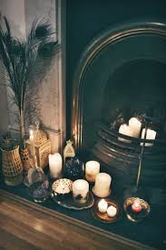 inspiring candles in fireplace ideas best inspiration home