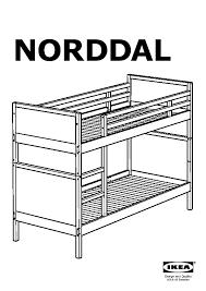 Norddal Bunk Bed Norddal Bunk Bed Frame Black Brown Ikea Canada Ikeapedia