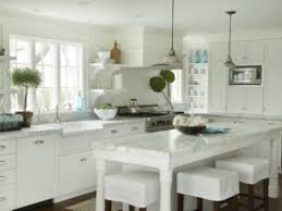 Traditional White Kitchen Images - traditional white kitchen with white marble countertops design
