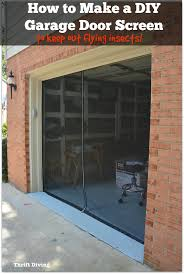 garage door covers style your garage how to make your own garage door screen with a zipper