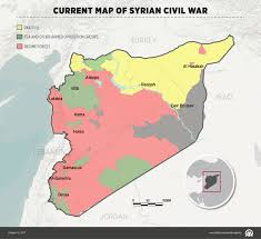 Damascus Syria Map Current Map Of Syrian Civil War Infographic Anadolu Agency