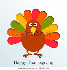 turkey style character thanksgiving stock vector