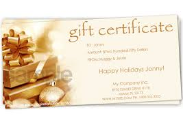 gift certificate printing print your own gift certificates using easy templates