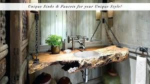 cool bathroom sink faucets integral glass sinks a unique bathroom