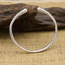 sterling silver cuff bangle bracelet images Monkey king bar cuff bangle bracelet in real s999 sterling silver jpg