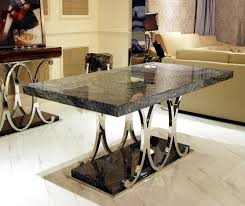 marble top rectangular modern dining table and chairs luxury high