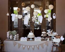 neutral baby shower decorations vintage themed neutral baby shower