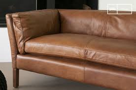 canape cuir vintage hamar leather sofa chic vintage style pib