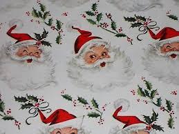 christmas wrap paper vtg christmas wrapping paper gift wrap 1950 santa nos