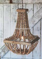 Beaded Wood Chandelier Unbranded Wooden Chandeliers Ebay