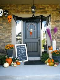House Decorating For Halloween Cute Halloween Front Porch Decorations To Greet Your Guests