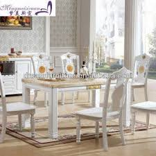 Square Wood Dining Tables Modern Square Wooden Marble Top Dining Table Global Sources