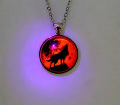 glow in the necklaces glowing pendant the glass you to charge the