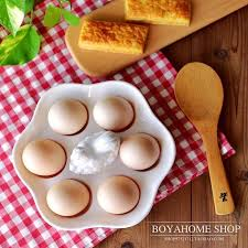 baking container storage white cock ceramic egg plate porcelain egg tray container storage