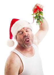 mistletoe hat disgusting with christmas mistletoe stock image image of