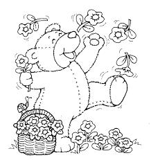 teddy bears printables color sheets printable spring teddy bear