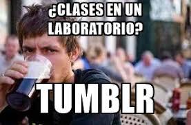 Lazy College Senior Meme Generator - clases en un laboratorio tumblr the lazy college senior meme