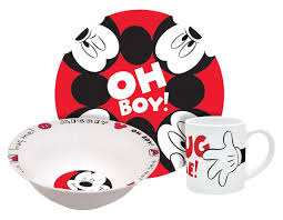 Mickey Mouse Kitchen Set by Amazon Com Disney Mickey Hug Me Dinnerware Set 3 Piece Kitchen